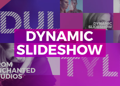 Dynamic Slideshow After Effects photo slideshow template