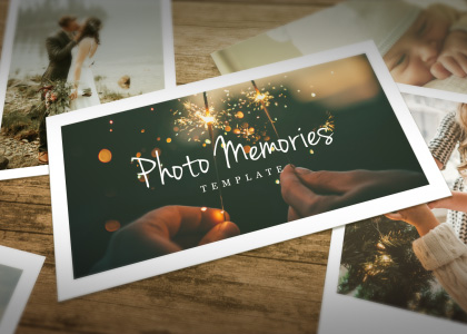 Photo Memories After Effects photo slideshow template