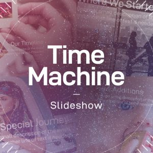 Time Machine After Effects timeline slideshow template