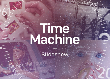 Time Machine - an After Effects timeline template