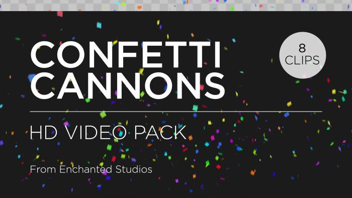Confetti overlay transparent background title