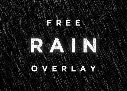 Free rain particle overlay video effect