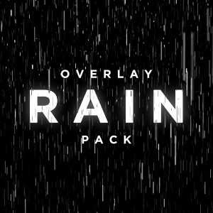 Rain particle overlay video effect pack