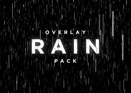 Rain overlay video loop pack