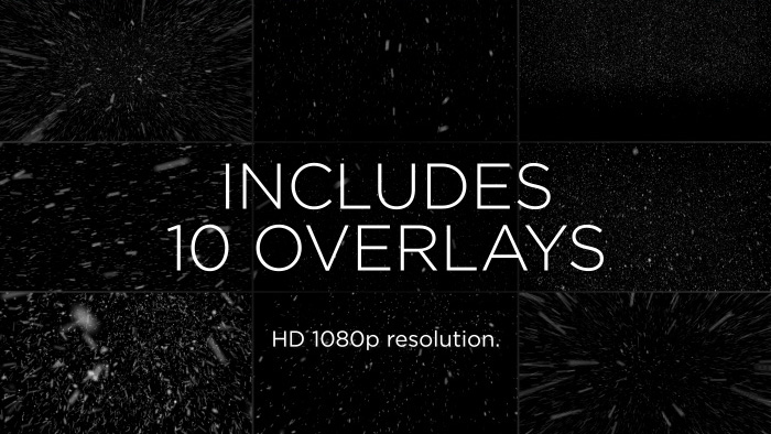 Snow particle effect overlay pack grid