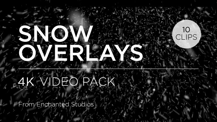 Snow effect overlay pack particle stock footage
