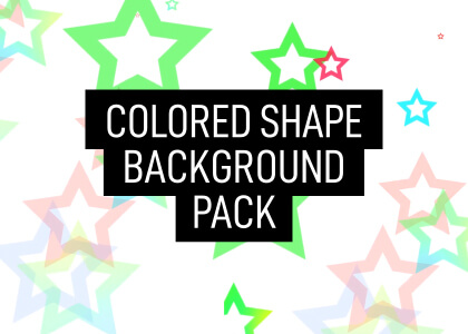 Free Colored Shapes Background Animation Pack Still Feature