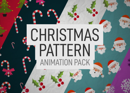 Christmas Pattern Background Animation Pack