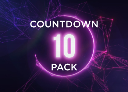 10 Second Countdown Animation Pack Stock Footage Feature