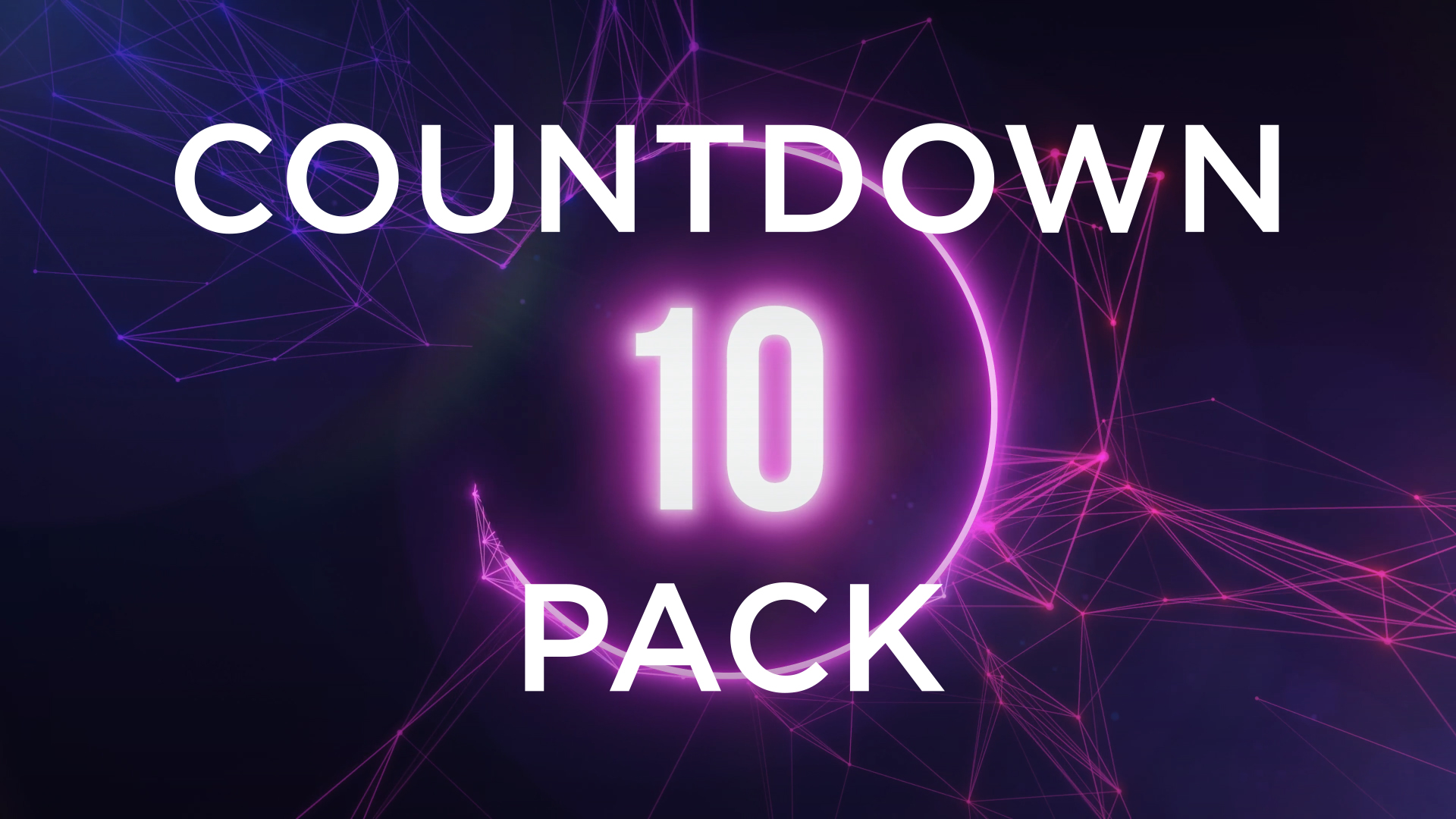 10 Second Countdown Animation Pack Stock Footage Still HD