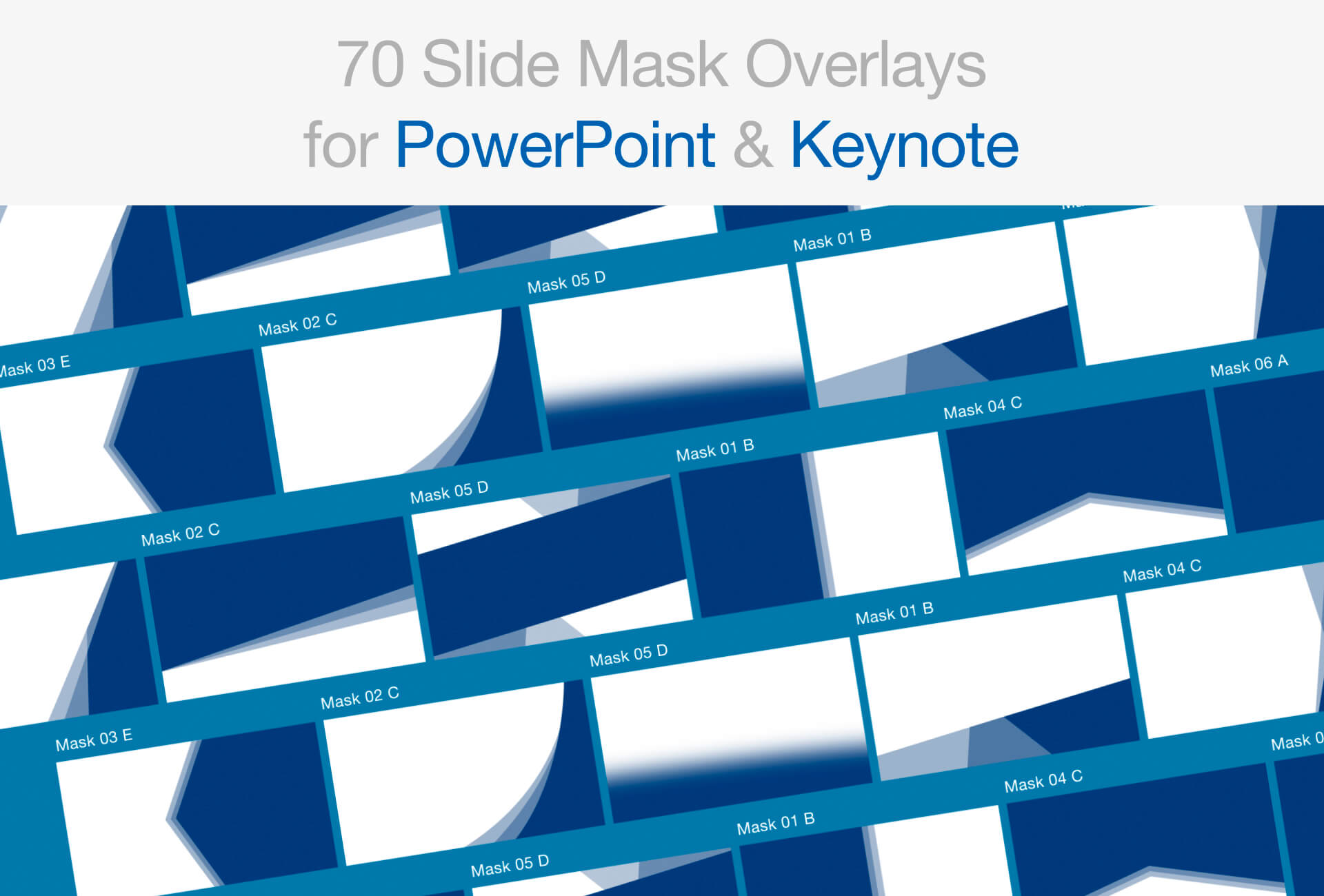 Free PowerPoint Slide Mask Overlay Pack Gallery
