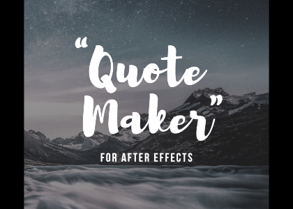 Animated Quote Maker for After Effects Feature