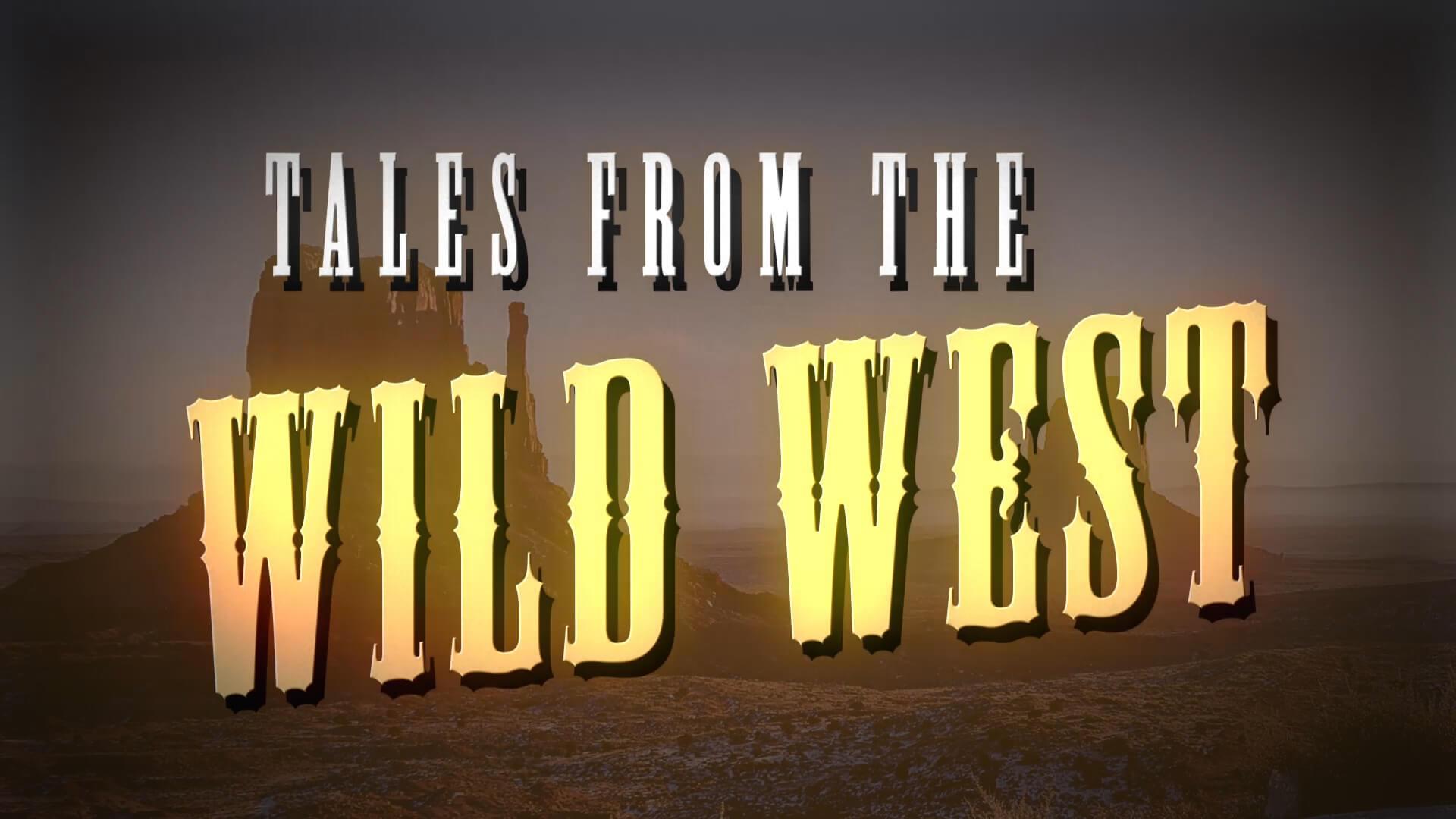 Vintage Classic Wild West Movie Title