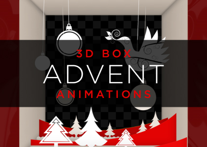 Advent Calendar 3D Box Animation Pack Green Screen Stock Footage Feature