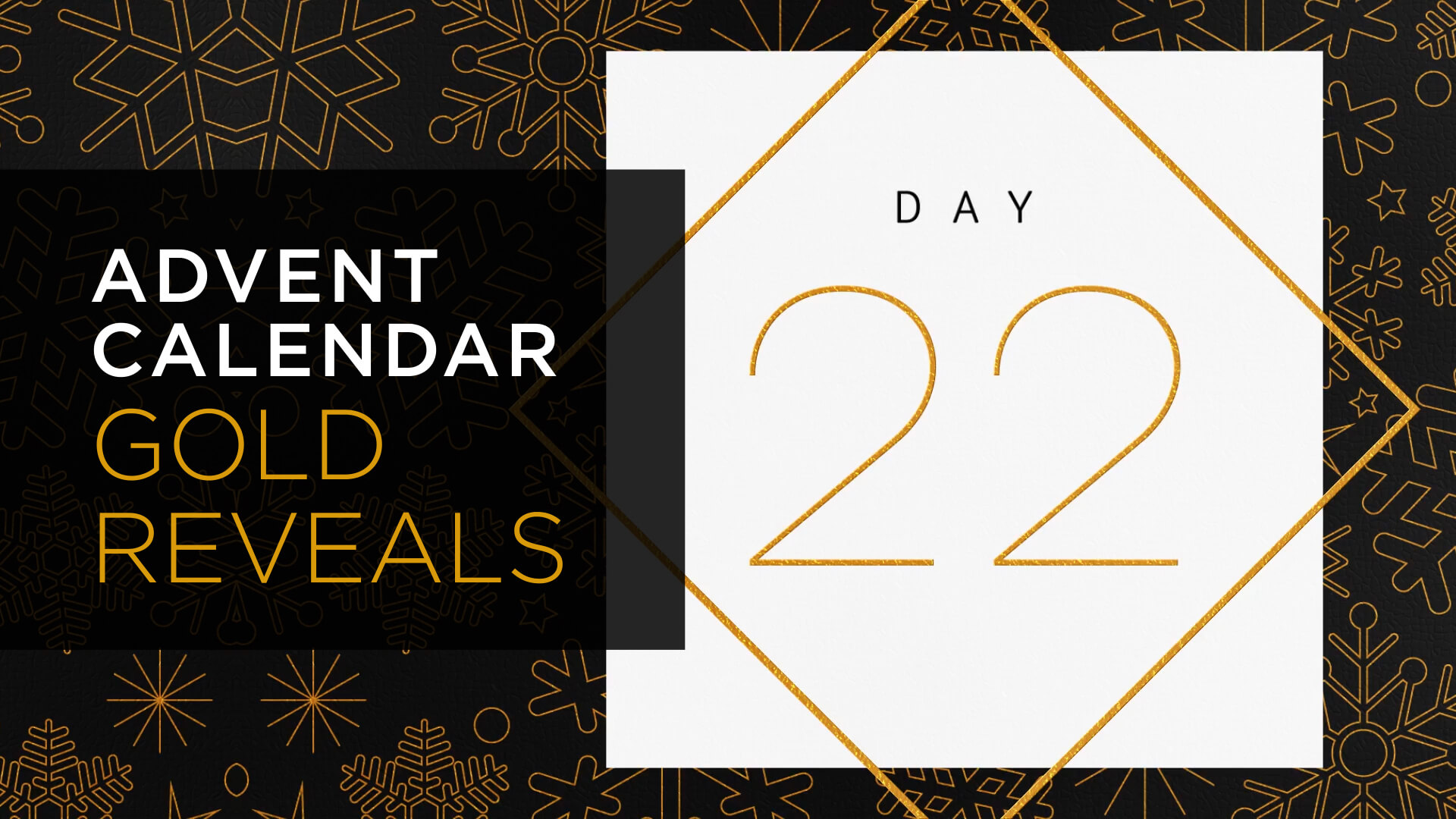 Advent Calendar Gold Numbers Animation Pack Green Screen Stock Footage HD Still