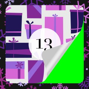 Christmas Advent Calendar Sticker Animations on Green Screen Feature