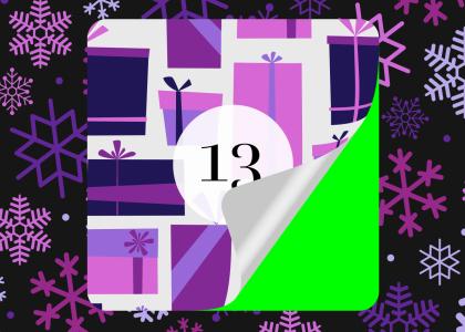 Christmas Advent Calendar Sticker Animations on Green Screen Feature