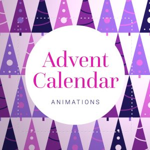 Christmas Advent Calendar Window Animations Green Screen