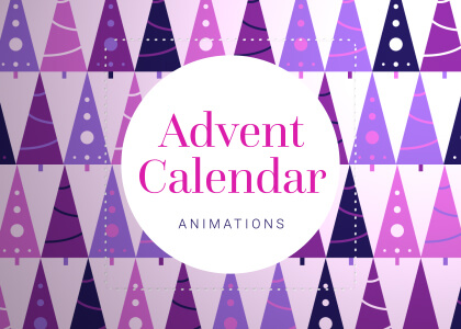 Christmas Advent Calendar Window Animations Green Screen
