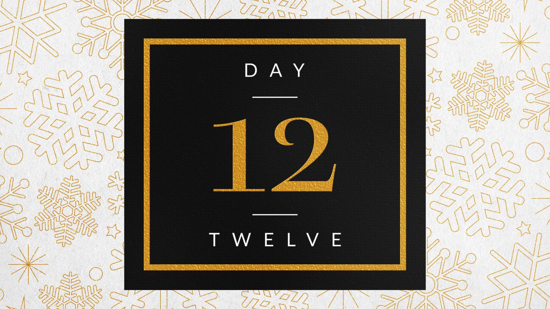 Elegant Festive Foil Calendar Number Reveal Title for Premiere HD