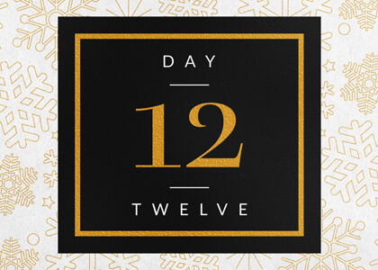 Elegant Festive Foil Calendar Number Reveal Title for Premiere THUMB