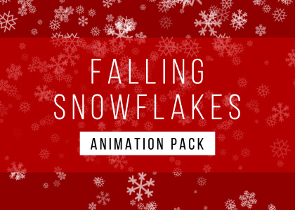 Falling Snowflake Background Animation Pack Feature