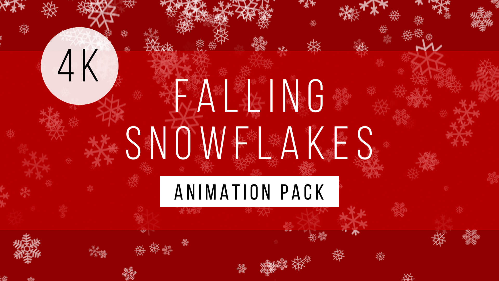 Falling Snowflake Background Animation Pack