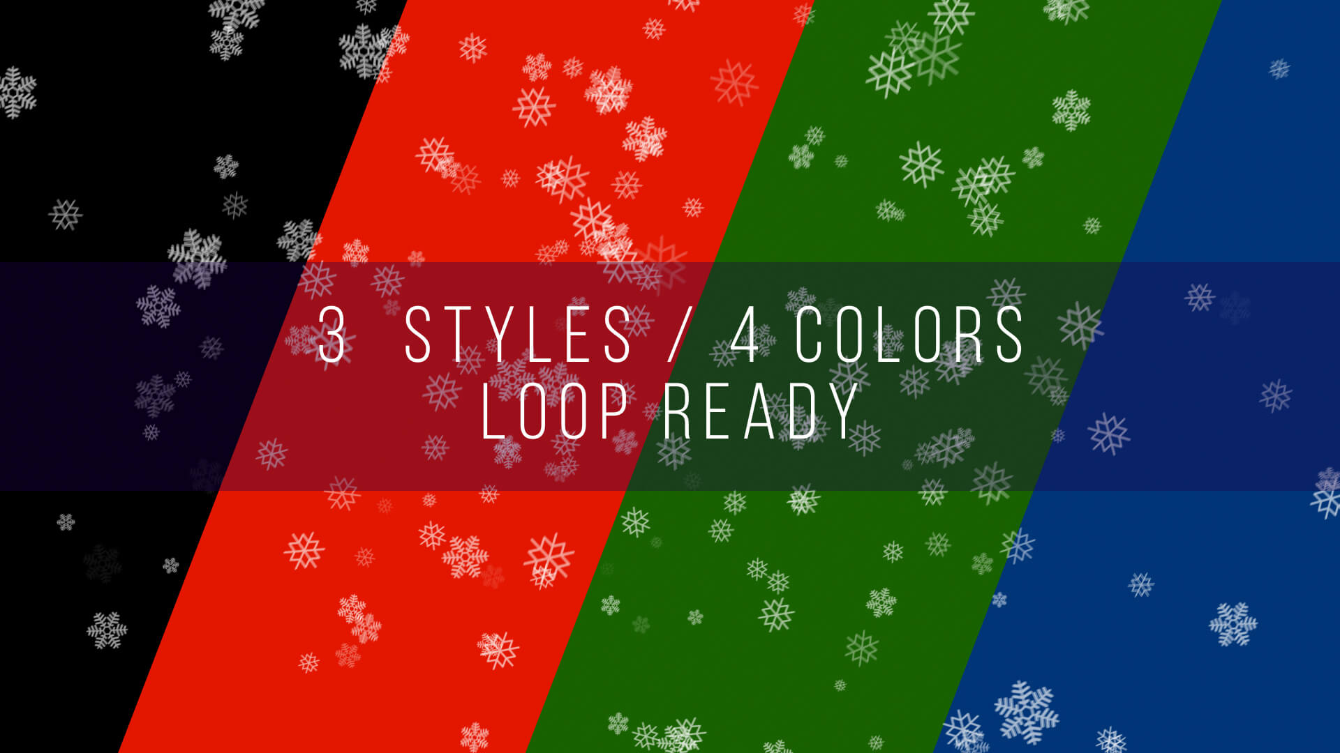 Falling Snowflakes Background Animations Loop Ready
