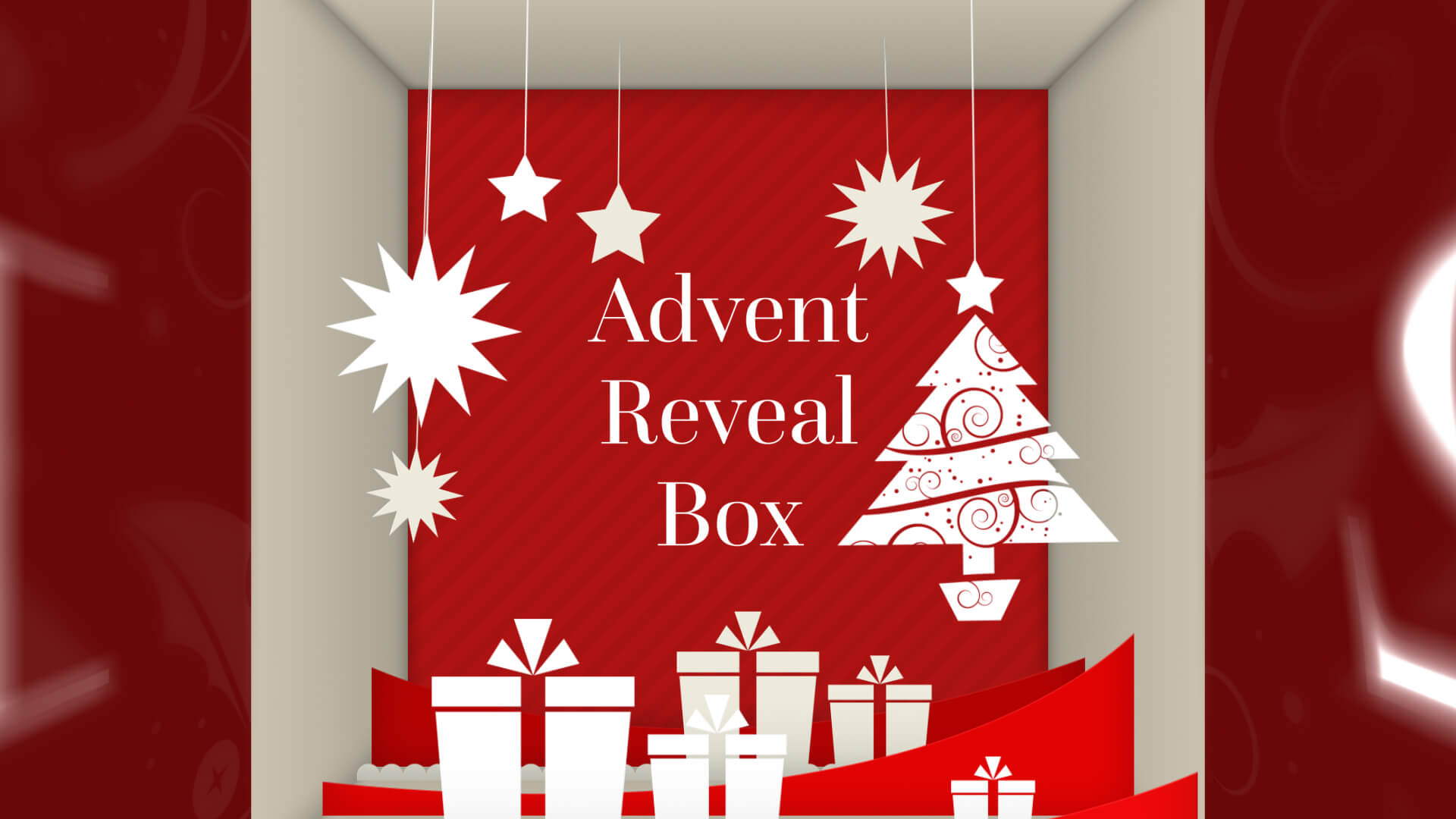 Festive 3D Advent Calendar Box Reveal Title for Premiere HD