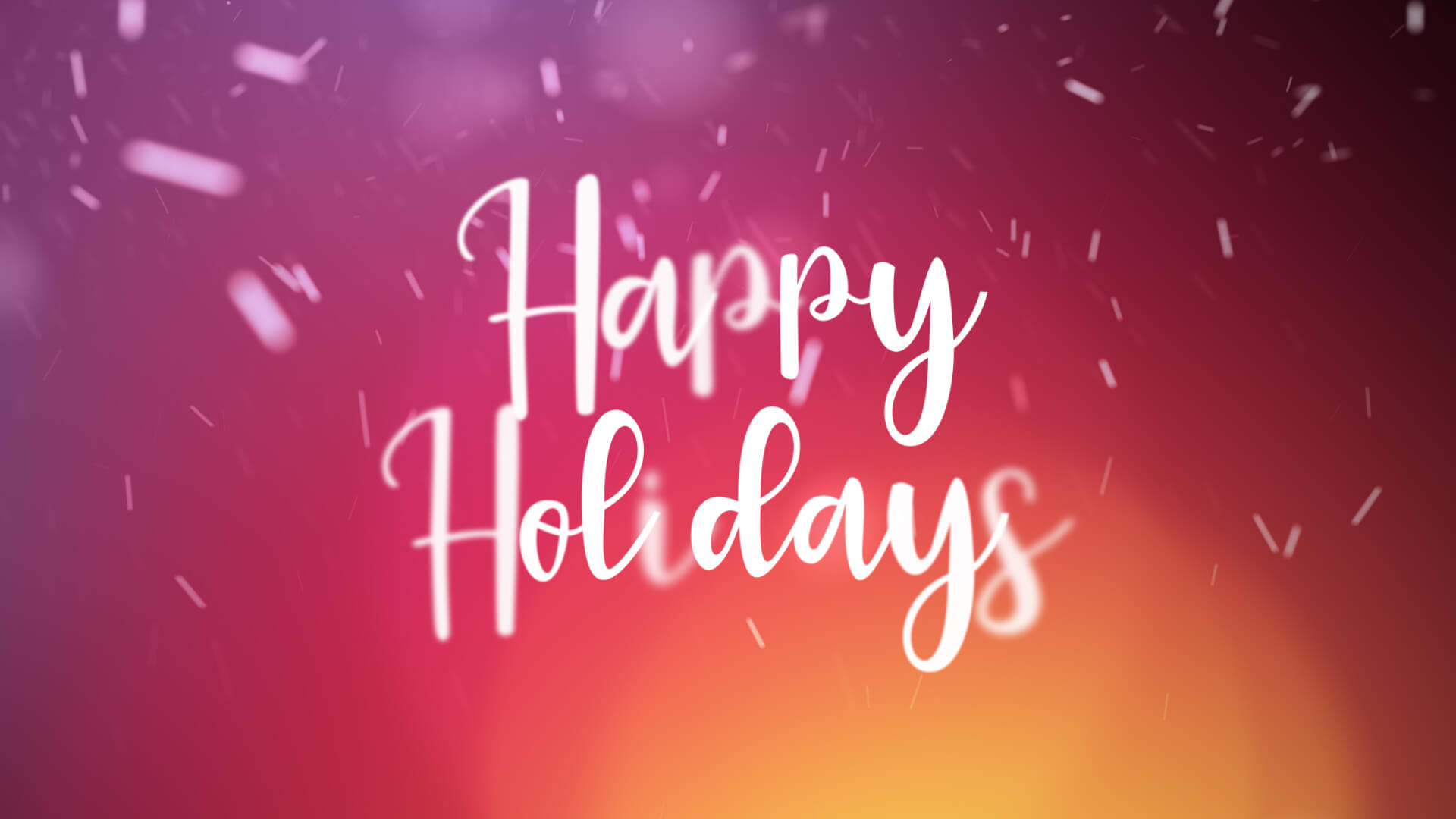 Happy Holidays Animation Video Still