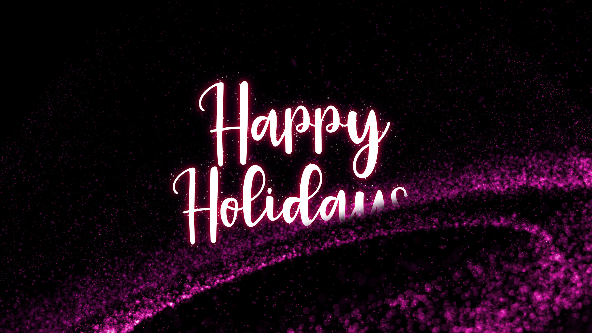 Happy Holidays Particle Animation Video Still