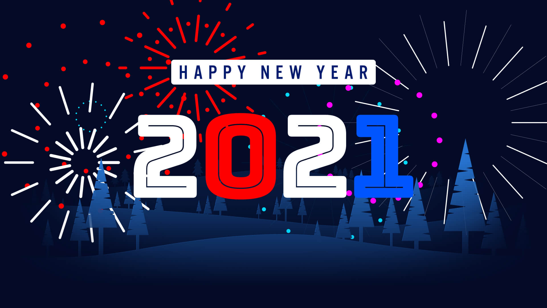 Happy New Year 2021 Fireworks Animation Video Still