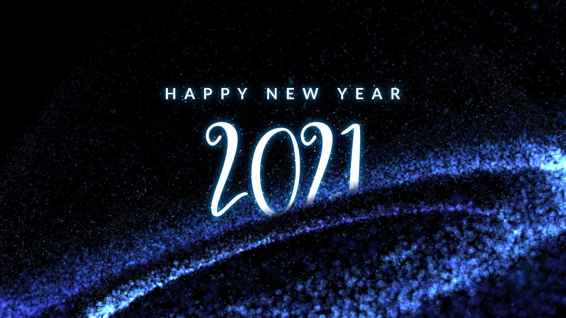 Happy New Year 2021 Particle Animation Video Still