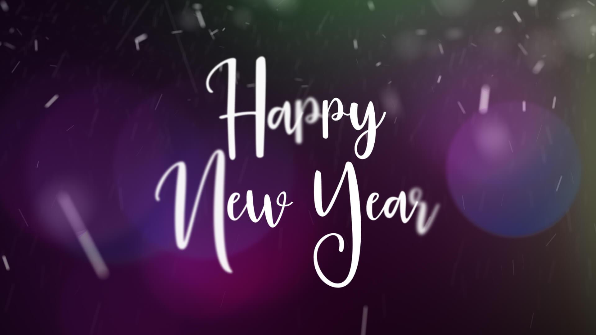 Happy New Year Animation Video Still