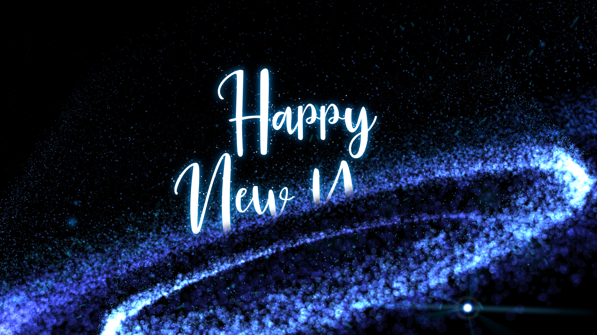 Happy New Year Particle Animation Video Still