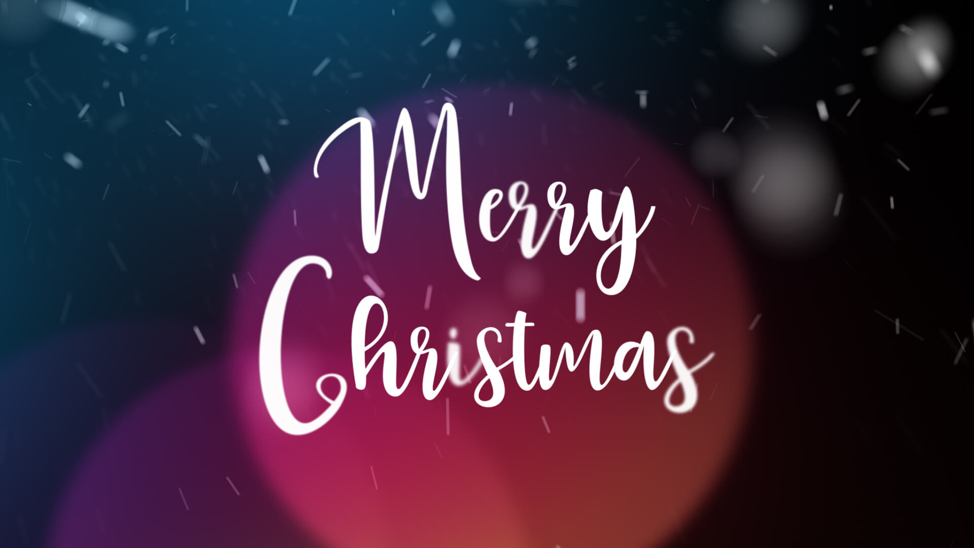 Merry Christmas Animation Video Still
