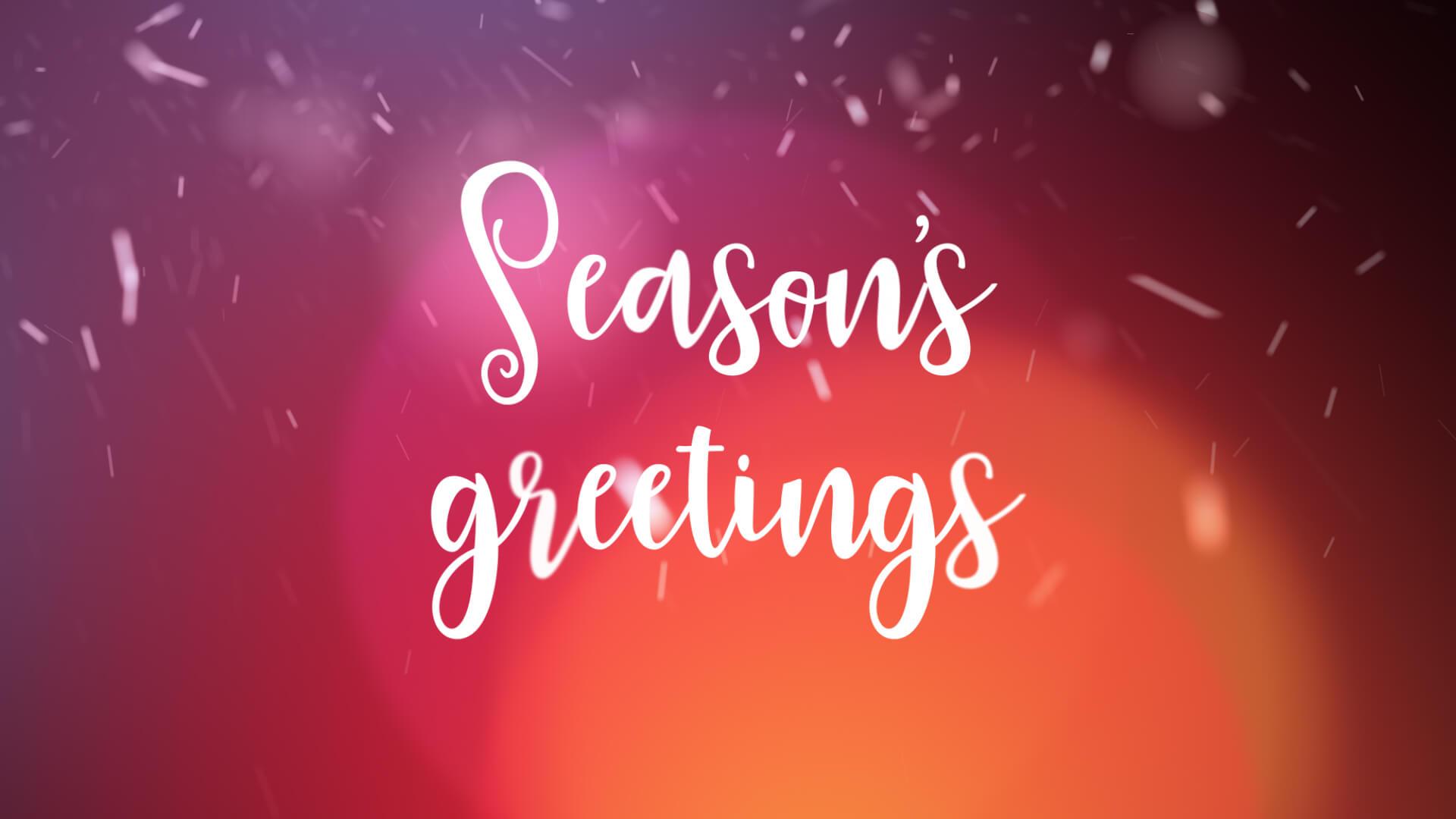 Seasons Greetings Animation Video Still