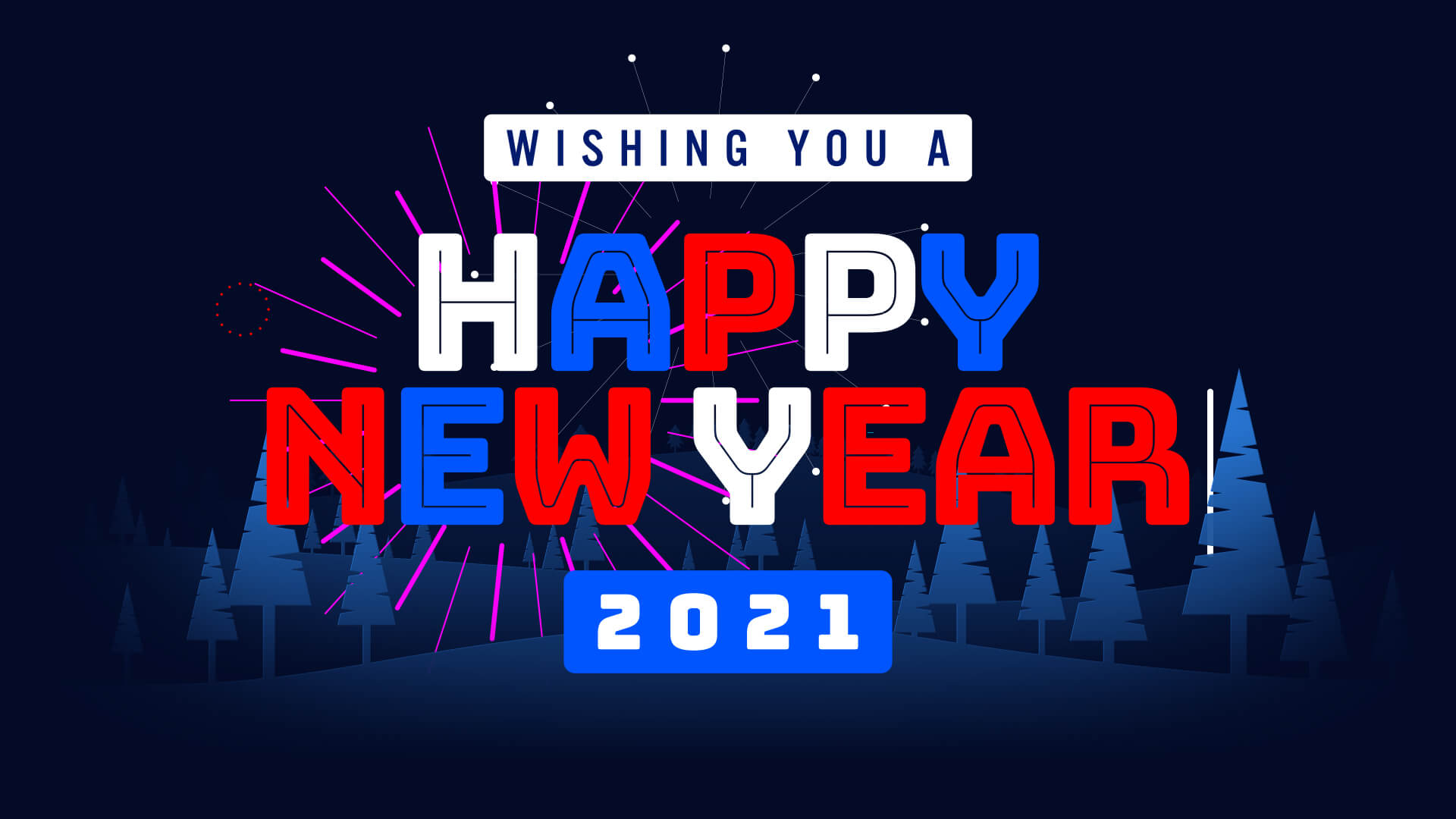 Wishing Happy New Year 2021 Fireworks Animation Video Still