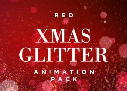 Christmas Red Glitter Background Pack Feature