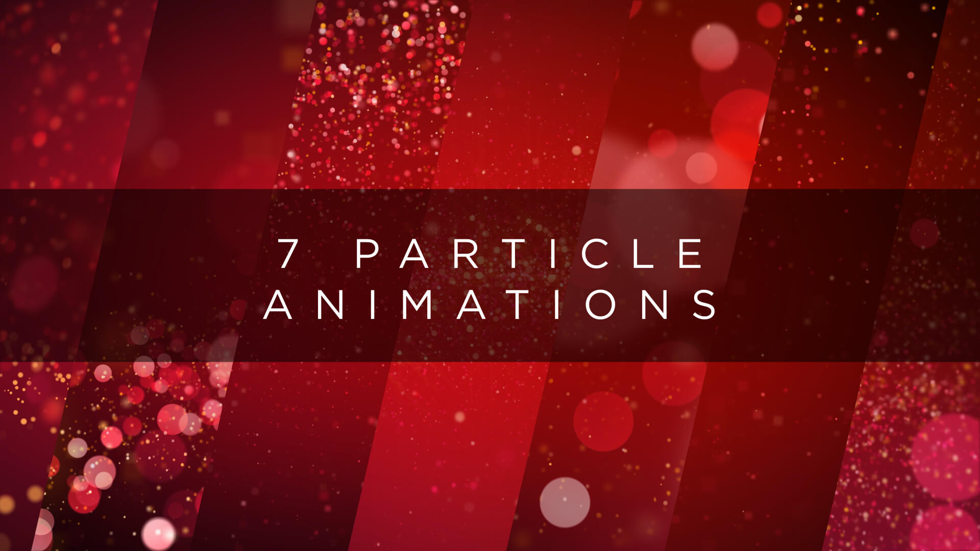 Christmas Red Glitter Background Pack Seven 4K Clips