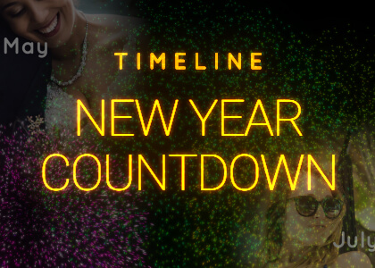 New Year Timeline Countdown Template for After Effects